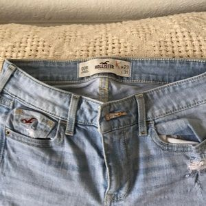 Faded Hollister skinny jeans